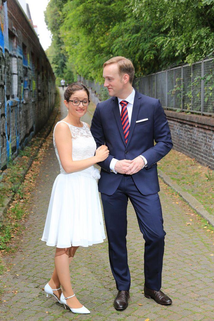 Hochzeitsfoto an ungewöhnlichem Ort von Peter Vogel, Hamburg