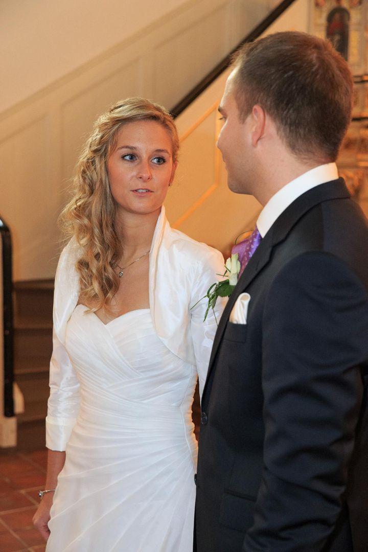 Paarbild während der Trauung, Hochzeitsfotos von Peter Vogel, Hamburg
