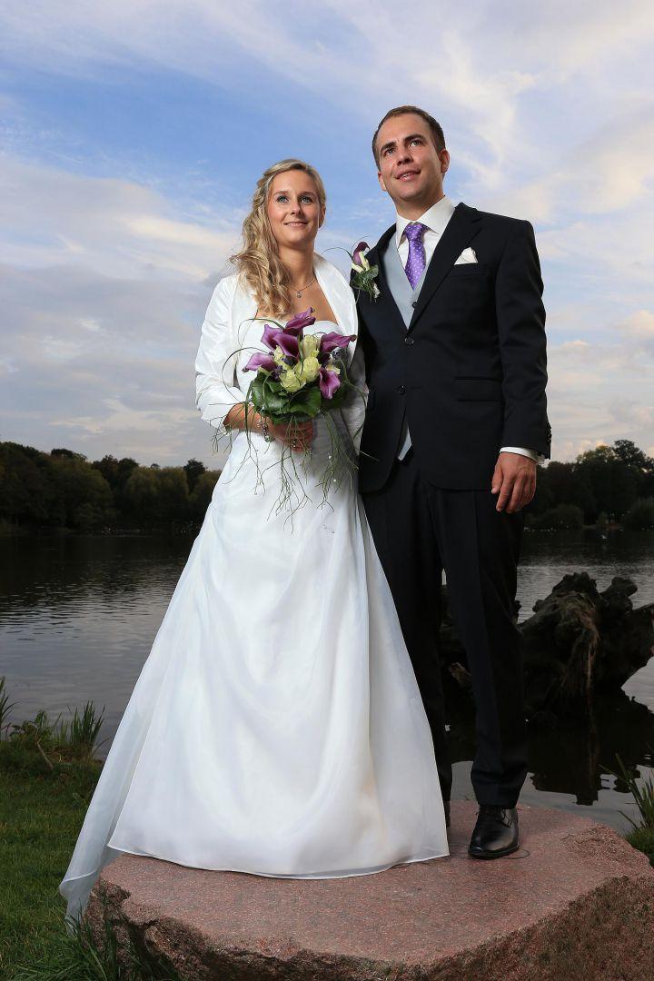 Paarbild in abendlicher Stimmung, Hochzeitsfotos von Peter Vogel, Hamburg