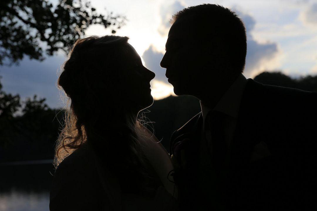 Brautpaarfoto sl Silhouette, Hochzeitsfotos von Peter Vogel, Hamburg