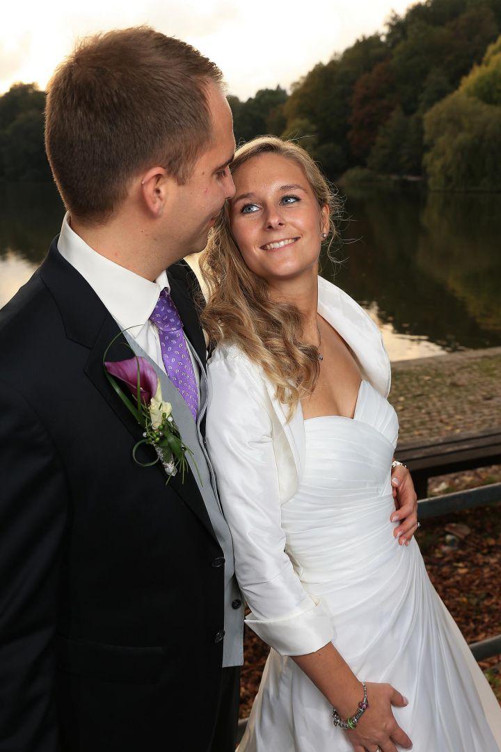 Paarbild vom Hochzeitspaar, Hochzeitsfotos von Peter Vogel, Hamburg