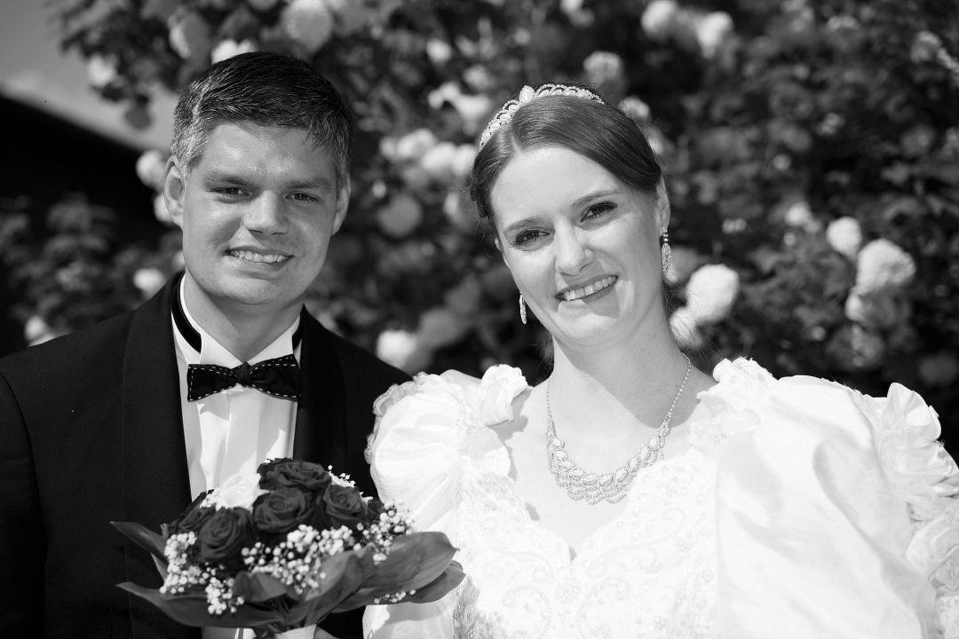 Bild vom Brautpaar vom Hochzeitsfotografen Peter Vogel